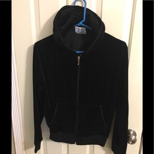 Black Juicy Couture Velour Hoodie Size XL